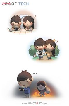 Love Facts : Picture Description Joy of Tech HJ-Story Love is… pinning this, www. Cute Love Quotes, Cute Love Stories, Funny Love, Love Story, True Stories, Love Is Comic, Hj Story, Love Cartoon Couple, Cute Love Cartoons