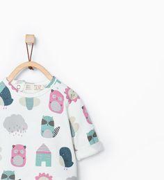 Sweat avec petits animaux imprimés de Zara taille 1-3 mois