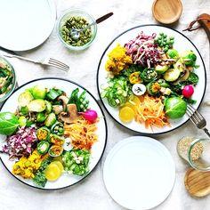 "1,850 Likes, 38 Comments - Chinami (@chinamisakamoto) on Instagram: ""Colorful Vegetable Salad #vegetables #salad 野菜たっぷりカラフルサラダ . #野菜 #サラダ #種類ごとにお味を変えています"""