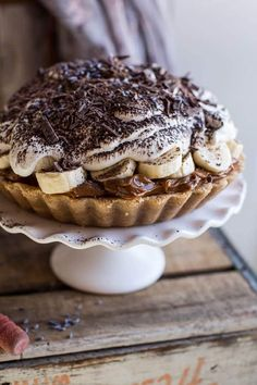 Chocolate Coconut Banoffee Tart 27 Pies That Couldn't Be More Fabulous If They Tried Pie Recipes, Dessert Recipes, Cooking Recipes, Banoffee Cheesecake, Pavlova, Cupcakes, Half Baked Harvest, Sweet Pie, Gastronomia