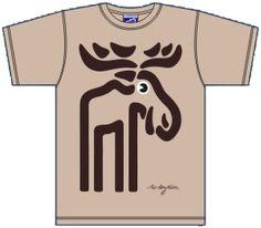 Elch-T-Shirt - Bo Bendixen - Größe M - Nordland-Shop