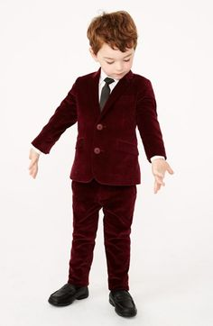 Appaman Two-Piece Suit & Shirt (Toddler Boys) | Nordstrom minus the hideous shoes