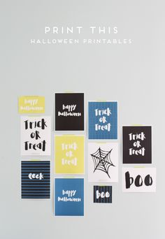 Print This: Halloween Wall Art Printables & Stencils for Pumpkin Carving - Paper & Stitch