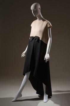 Silk Gazar Blue and White Midi Skirt Marfy 3171