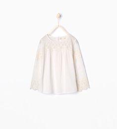 Afbeelding 1 van Shirt met borduursel van Zara