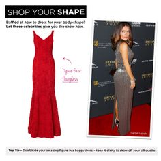 Hourglass: Salma Hayek, Top Tip – Don't hide your amazing figure in a baggy dress – keep it slinky to show off your silhouette.