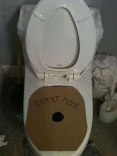 haha..a pinner said: YEARS of cleaning up pee off toilet seats in the boy's bathroom, I have an idea to appeal to their competitive egos!
