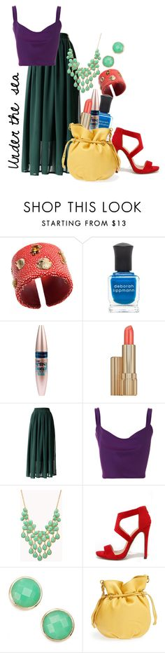 """Under the sea - Ariel"" by alexxhutcherson ❤ liked on Polyvore featuring Renato Cipullo, Deborah Lippmann, Maybelline, Estée Lauder, Chicwish, Cushnie Et Ochs, Forever 21, Liliana, Melinda Maria and HOBO"