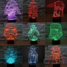 Luminária de led colorido Star Wars