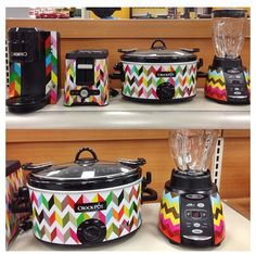 $34.99 at Target. Chevron print Crockpot, toaster, coffee maker and blender.