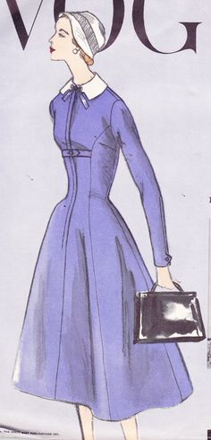 Vintage 50's Women's Sewing Pattern Dress and by Sutlerssundries, $150.00