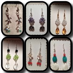 Earrings I've made recently.  Some with matching bracelets!  :)