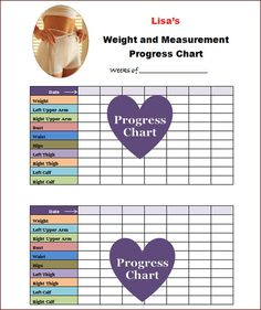 Weekly printable weight loss progress chart Celebrating The Word ...