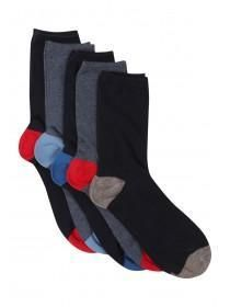 This five pack of boys' assorted socks is the perfect update for his collection of basic essentials. Featuring five pairs of socks with contrasting heels and. Uniform Clothes, Boys Socks, Peacocks, School Uniform, Pairs, Navy, Collection, Products, Hale Navy