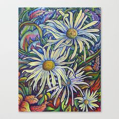 Wild Daisies ~ Autumn Breeze Stretched Canvas by Morgan Ralston - $85.00
