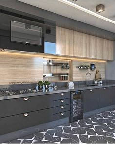 34 What You Need to Do About Best Modern Kitchen Cabinets Ideas - homesuka Modern Kitchen Interiors, Luxury Kitchen Design, Kitchen Room Design, Modern Kitchen Cabinets, Contemporary Kitchen Design, Home Decor Kitchen, Interior Design Kitchen, Contemporary Kitchen Furniture, Kitchen Items
