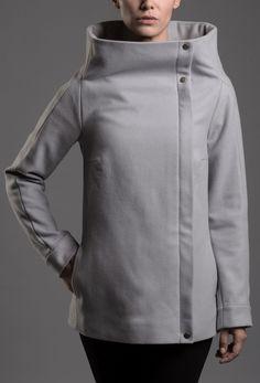 Soolista Grey square – MOLO7 Chef Jackets, Blazers, Grey, Model, Fashion, Simple Lines, Gray, Moda, Blazer
