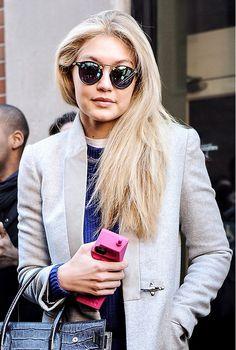 Gigi Hadid in KREWE du optic sunglasses 2015