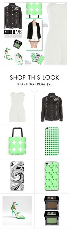 """Tear It Up"" by atelier-briella ❤ liked on Polyvore featuring Tamara Mellon, Topshop, Music Notes and Make"