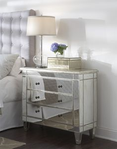 Garbo Mirrored Hall Chest | Glam Furniture from glamfurniture.com. Saved to Epic Wishlist