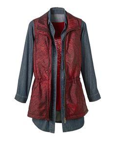 Long metallic vest