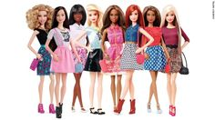 The 23 dolls of the Barbie Fashionista line, which started rolling out in January, represent eight different skin tones, 14 facial structures, 22 hairstyles, 23 hair colors and 18 eye colors. The last of the dolls should arrive in stores in October.
