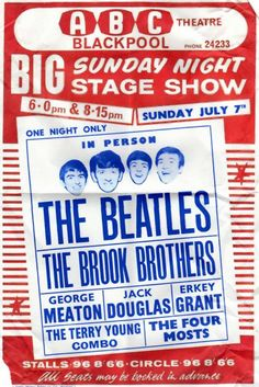 Trendy music concert poster the beatles Poster Dos Beatles, Les Beatles, Beatles Band, Beatles Photos, Gig Poster, Tour Posters, Band Posters, Theatre Posters, Event Posters