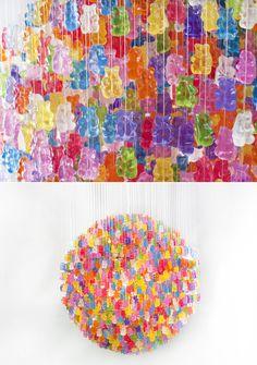 Gummi Bear chandelier by Jellio