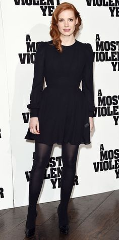 Look of the Day - January 24, 2015 - Jessica Chastain in Saint Laurent from #InStyle