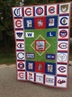 Baseball Little League Code: 2294586332 Chicago Cubs Fans, Chicago Cubs Baseball, Baseball Quilt, Baseball Shirts, Cubs Cards, Baseball Invitations, Jersey Quilt, Sports Quilts, Cubs Team