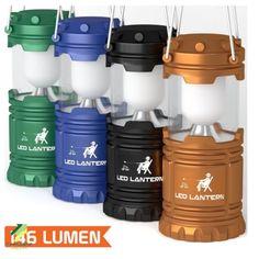 4 Pack LED Camping Lantern Flashlight Camping Equipment Ultra Bright Kit