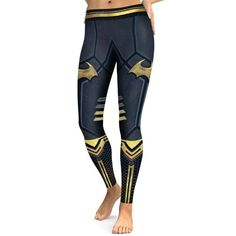 6b2bcbf706df92 Womens Hot Super Hero Digital Printing 8 Styles 3D Print High Waist Pants  Elastic Dry Quick