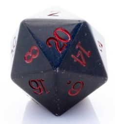 Giant d20 (Obsidian) | 25mm RPG Role Playing Game Die