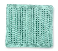 Free Creative Knitting Build-a-Block Series: Knitted Stitch Block of 5 - Simple Ladders Knitting Blocking, Knitting Squares, Dishcloth Knitting Patterns, Knit Dishcloth, Knitting Stitches, Knitting Yarn, Knit Patterns, Hand Knitting, Stitch Patterns