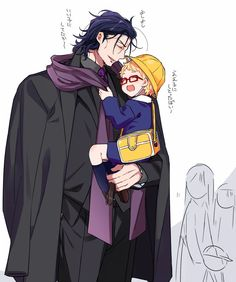 Mommy and daddy said that it'd be you who'd get me today, and you really came! Touken Ranbu Characters, Anime Characters, Hot Anime Boy, Anime Guys, Anime Chibi, Manga Anime, Tsukishima Kei, Anime Family, Anime People