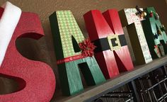 These wooden block letters are 8 tall, 5 wide and 1.5 thick. They stand alone and are a perfect centerpiece for your table, mantle or