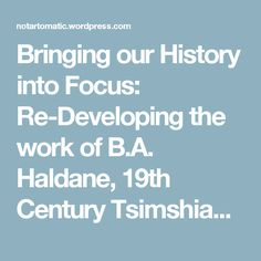 Bringing our History into Focus: Re-Developing the work of B.A. Haldane, 19th Century Tsimshian Photographer by Mique'l Askren – Not Artomatic