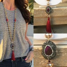Bohemian Druzy Glam red          BDG-R by RockAngelCouture on Etsy