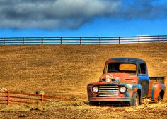 Old Ford truck in a field