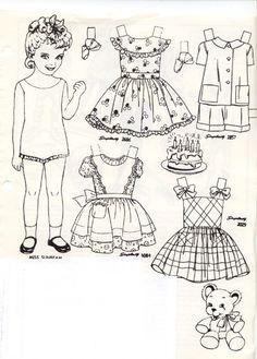 Miss Sunbeam paper doll
