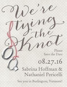Knotted Together - Save the Date Postcards - Sarah Hawkins Designs - Eggshell - Neutral : Front Save The Date Postcards, Save The Date Cards, Wedding Paper Divas, Day Of My Life, Bridal Shower Invitations, Invites, Wedding Save The Dates, Youre Invited, Wedding Stationary