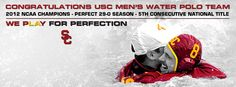 Congratulations to USC Men's Water Polo!