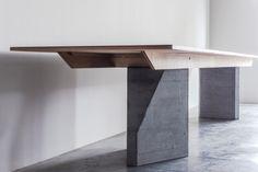 Design and bespoke oak furniture, handcrafted in the Netherlands. Dining Table Design, Dining Room Table, Media Wall Unit, Esstisch Design, Oak Panels, Brutalist, Wood Furniture, Van, Bespoke