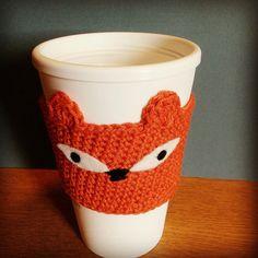Fox Coffee Cup Cosy Animal Mug cozy Jam Jar by CassiopeiaDesignsUK