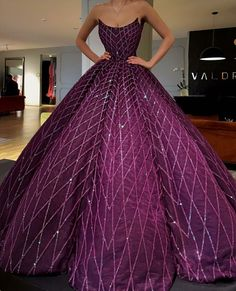 A line purple ball gown prom dress, Shop plus-sized prom dresses for curvy figures and plus-size party dresses. Ball gowns for prom in plus sizes and short plus-sized prom dresses for Ball Gowns Prom, Ball Gown Dresses, Prom Dresses, Quinceanera Dresses, Cinderella Dresses, Elegant Dresses, Pretty Dresses, Glamorous Dresses, Looks Chic
