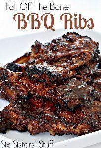 Five Ingredient BBQ Ribs | AllFreeSlowCookerRecipes.com