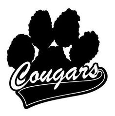 cougar paw clip art cougar team mascot royalty free stock rh pinterest com Paw Print Border Clip Art Puma Paw Print Clip Art
