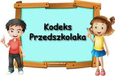 KODEKS PRZEDSZKOLAKA - nowe ilustracje - materiały do pobrania - Pastelowe Kredki Wordpress Theme, Family Guy, Education, Guys, Children, Baby, Fictional Characters, Puzzles, Fence