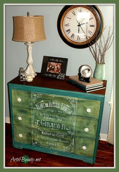 ART IS BEAUTY: Oui Oui, Rescued Dresser turned FRENCH-Tastic!