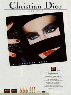 Christian Dior (Cosmetics) 1985 Lipstick Nail Polish Vintage advert Cosmetics